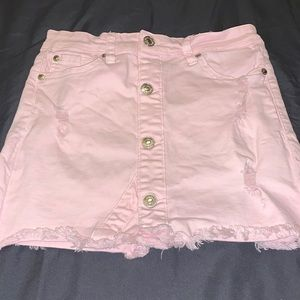 7 For All Mankind mini-skirt in pearl - Size 10